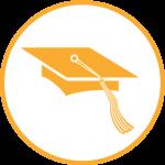 icon with graduate cap