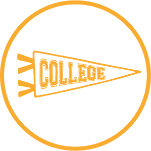 icon with college pennant