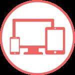 icon of desktop, phone, tablet
